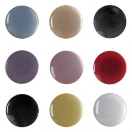 Pack of 8 Hemline Glossy Flat Shank Back Craft Clothing Buttons 11.25mm