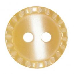 Pack of 5 Hemline Ridged Edge Craft 2 Hole Sew Through Buttons 15mm