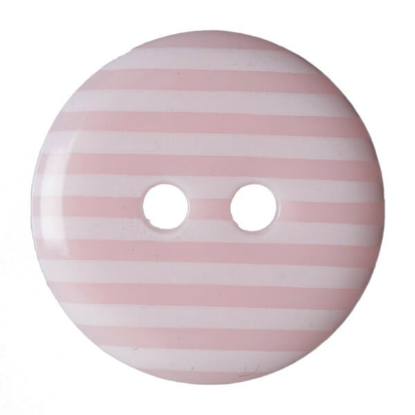 Pack of 6 Hemline Stripy Craft 2 Hole Sew Through Buttons 15mm