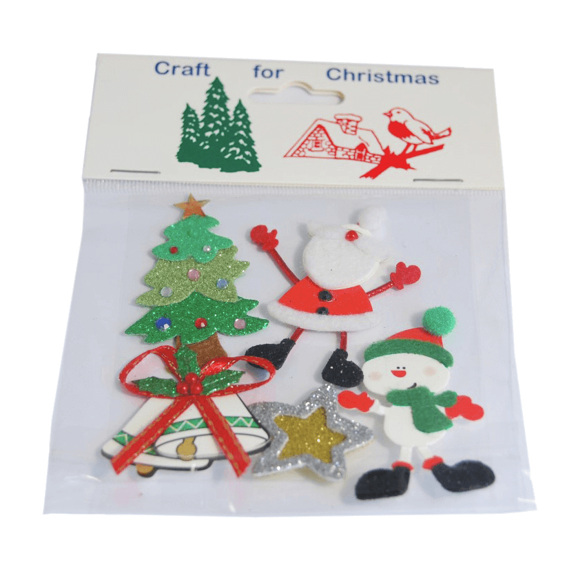 5 x Christmas Santa Snowman Embellishments Craft Cardmaking Scrapbooking