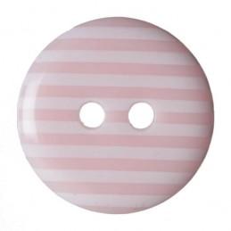 Pack of 3 Hemline Stripy Craft 2 Hole Sew Through Buttons 22.5mm