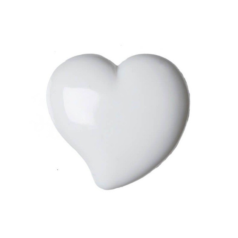 Pack of 6 Hemline Domed Hearts Craft Shank Back Buttons 9.5mm