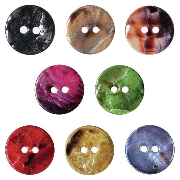 Pack of 6 Hemline Crystal Rock Effect 2 Hole Sew Through Buttons 11.25mm