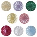Pack of 6 Hemline Floral Engraved Daisies 2 Hole Sew Through Buttons 11.25mm