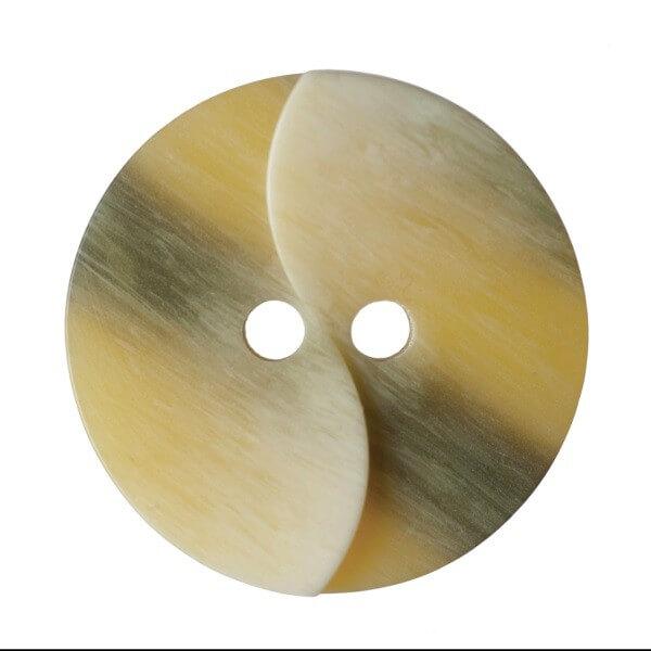 Pack of 4 Hemline Split Twist Wood Grain Effect 2 Hole Sew Through Buttons 20mm
