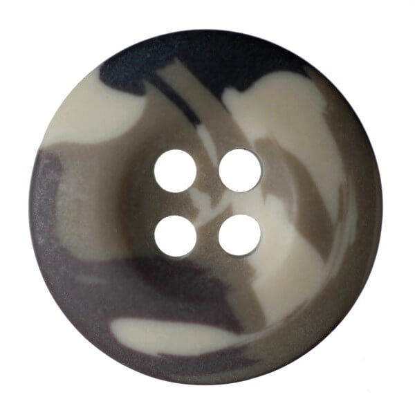 Pack of 4 Hemline Camouflage Dish 4 Hole Sew Through Buttons 17.5mm