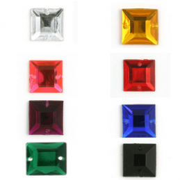 Acrylic Jewels Sew-On Square 10pk Embellishments Craft Gem Stones