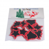 12 x Christmas Assorted Shapes Embellishments Craft Cardmaking Scrapbooking