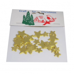 24 x Christmas Assorted Stars Embellishments Craft Cardmaking Scrapbooking