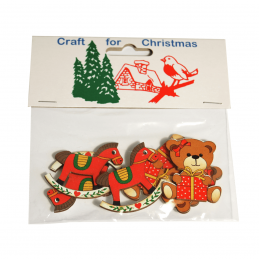 8 x Christmas Bears and Rocking Horses Craft Cardmaking Scrapbooking