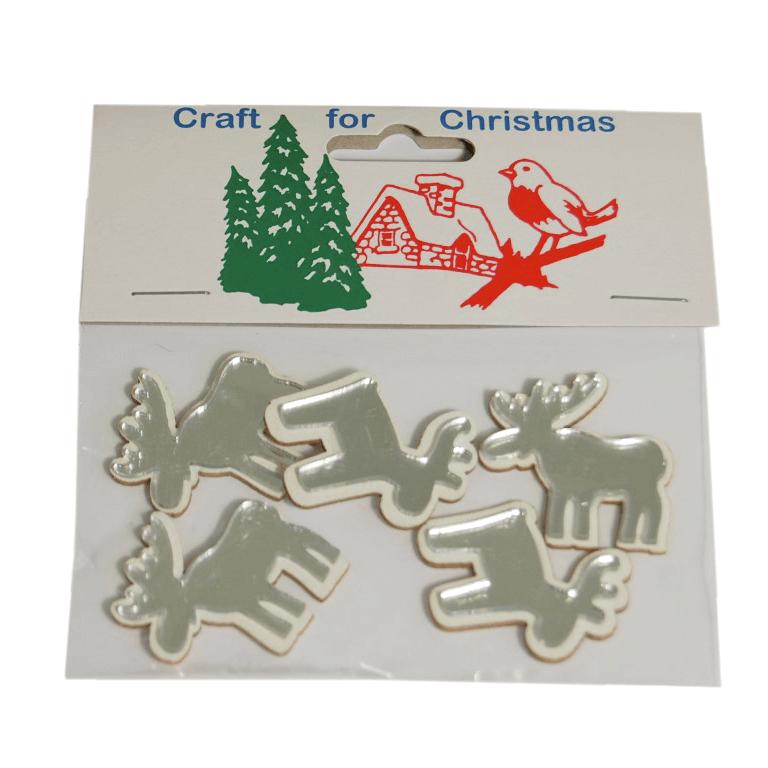 5 x Christmas 3D Reindeer Craft Cardmaking Scrapbooking