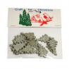 9 x Christmas Glitter Trees: Silver  Embellishments Cardmaking Scrapbooking