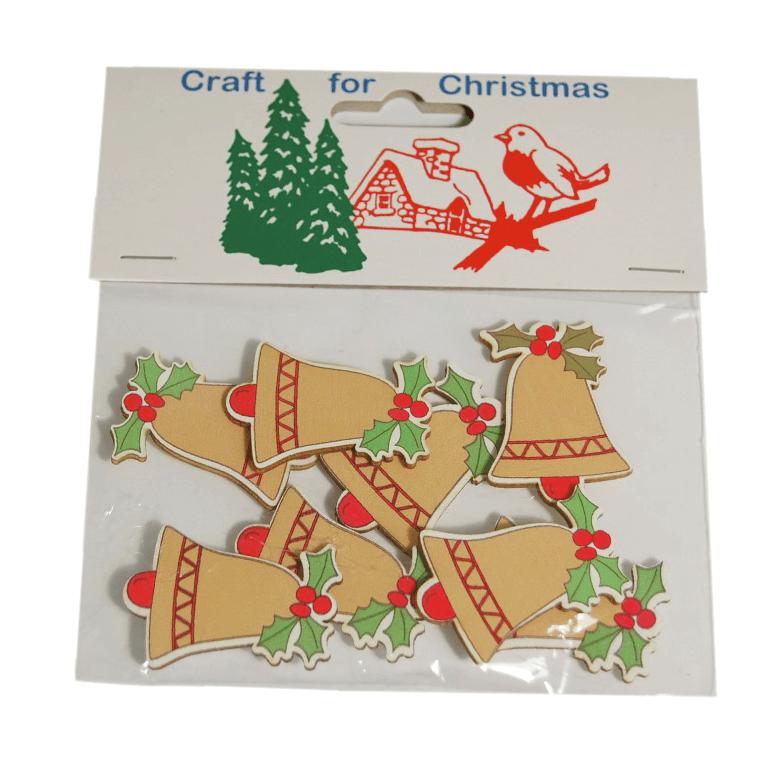 12x Christmas Bells Cardmaking Scrapbooking