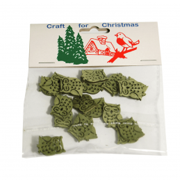 18 x Christmas Stressed Wood Small Owls Embellishments Craft Cardmaking