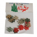 18x Christmas Wooden Small Snowflakes Embellishments Craft Cardmaking