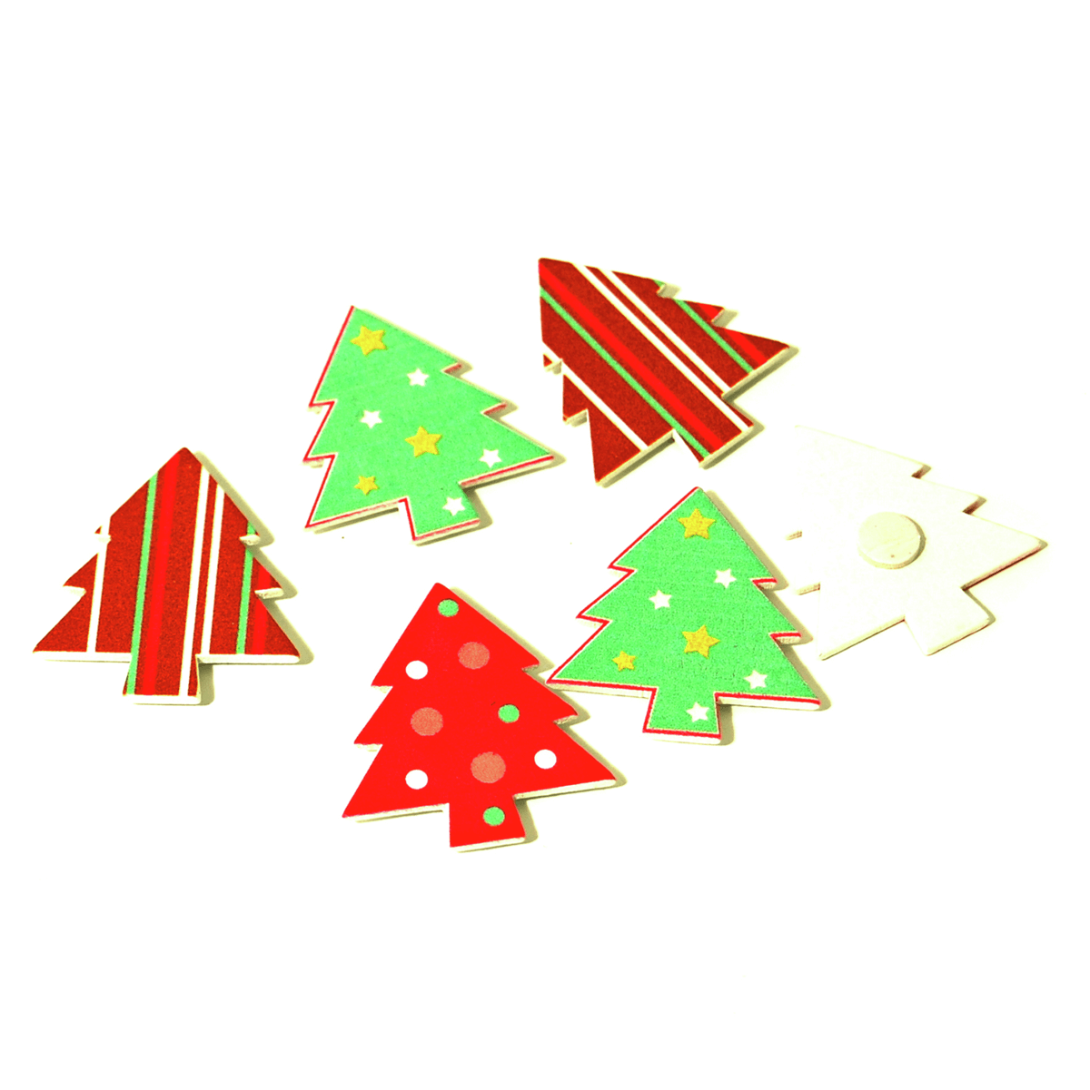 6 x Christmas Mod Tree Embellishments Craft
