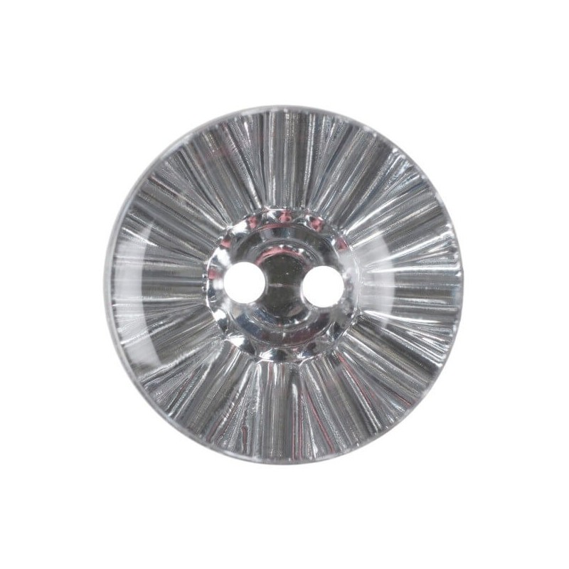Pack of 3 Hemline Crystal Ball Effect 2 Hole Sew Through Buttons 15mm