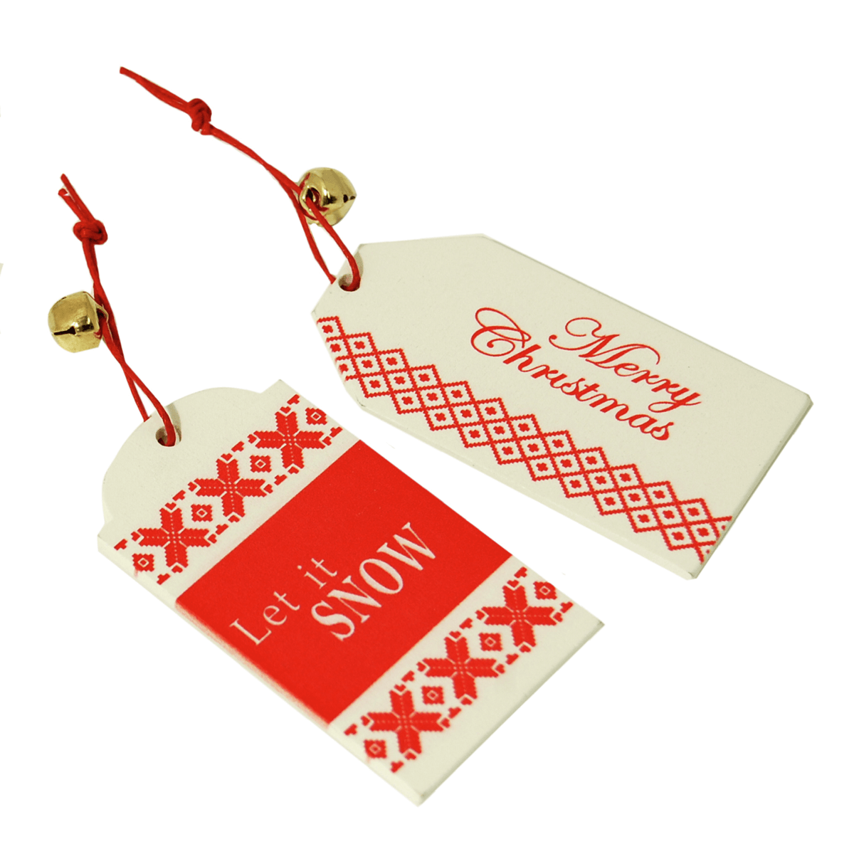 2 x Christmas Tag Let it snow Open Embellishments Craft