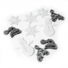 12 x Christmas Winter Snowmen Mittens and Hats Embellishments Craft Scrapbooking