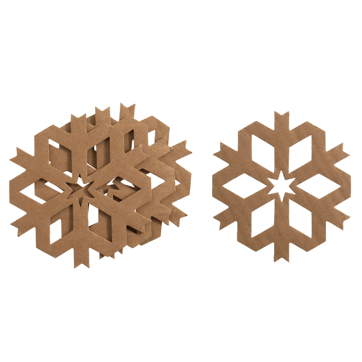 4 x Christmas Die Cut Snowflakes Embellishments Craft