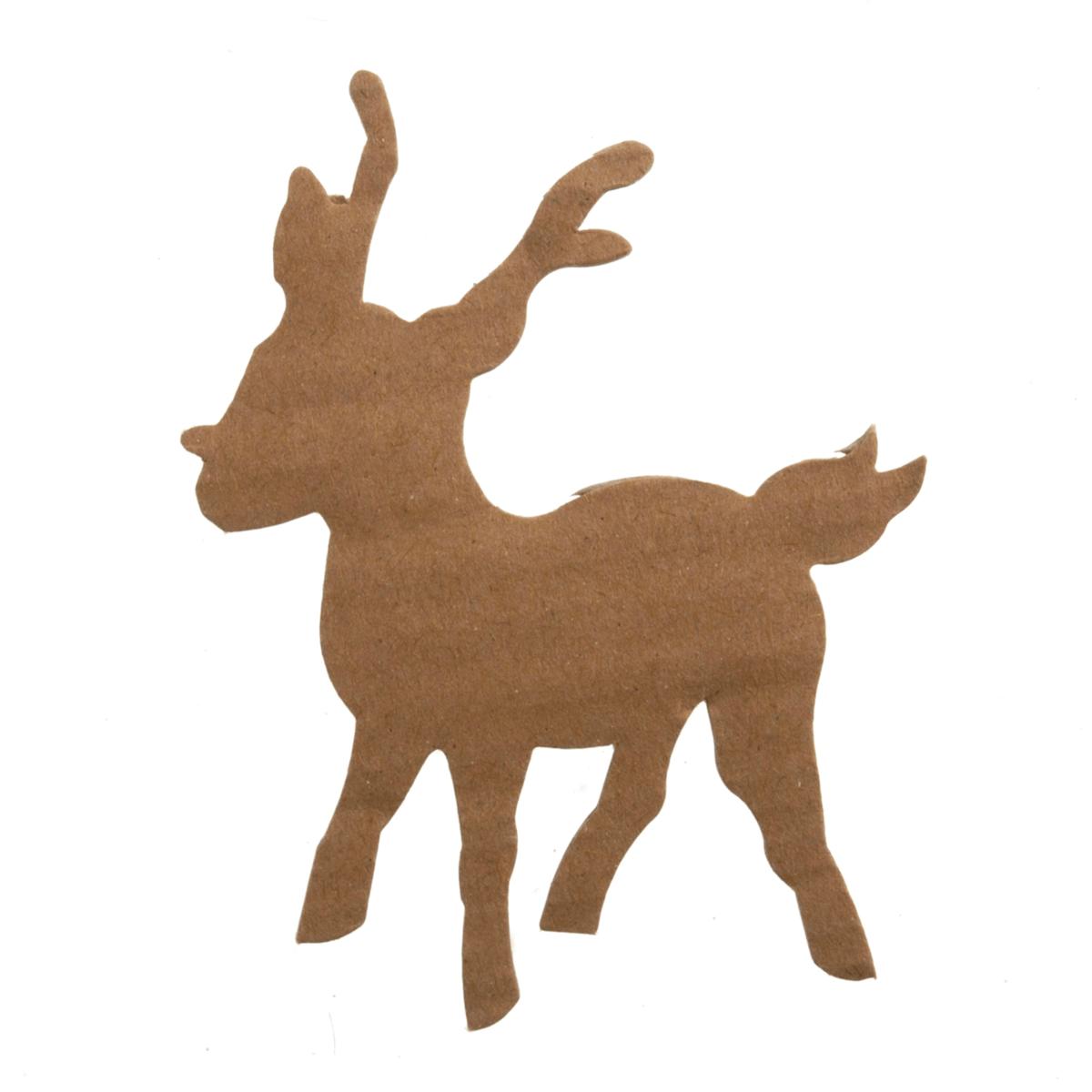 4 x Christmas Die Cut Reindeer Embellishments Craft