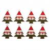 8 x Christmas Santa In Tree Craft Embellishments Scrapbooking