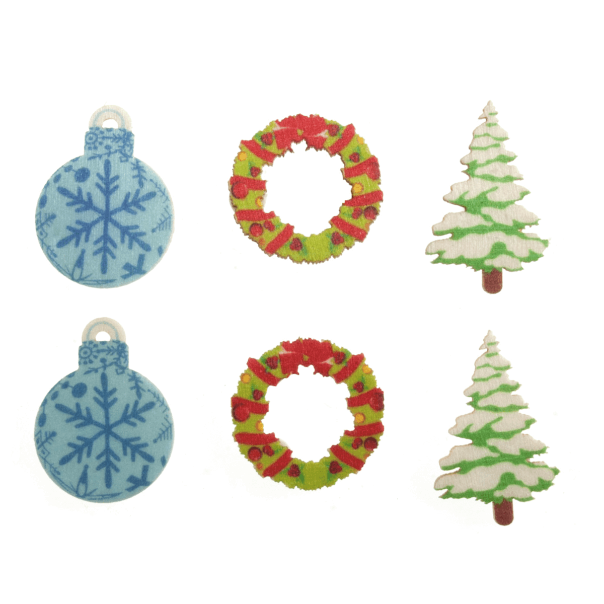 10 x Christmas Wooden Assortment  Embellishments Scrap booking