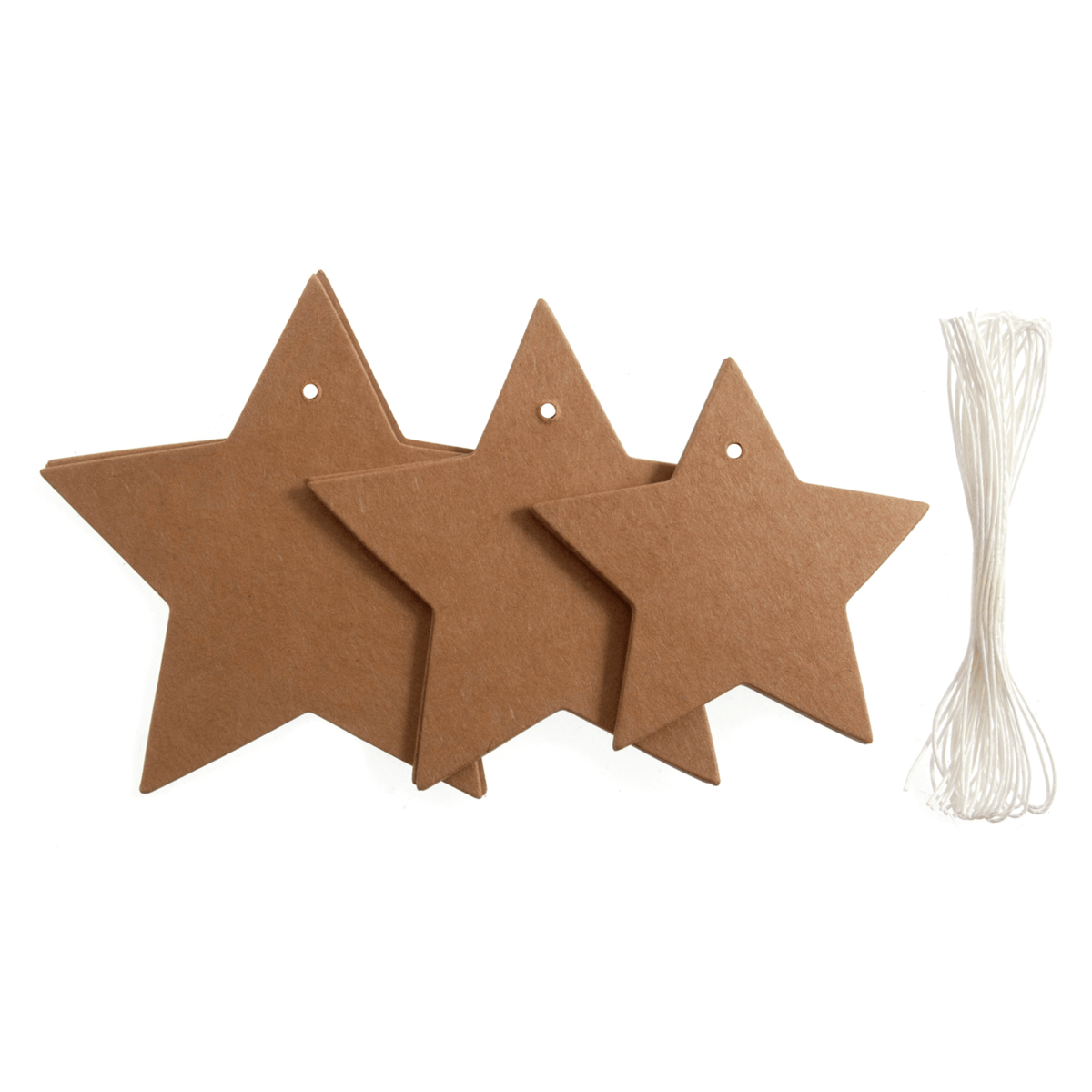 6 x Tags Assorted Star Embellishments Scrap booking