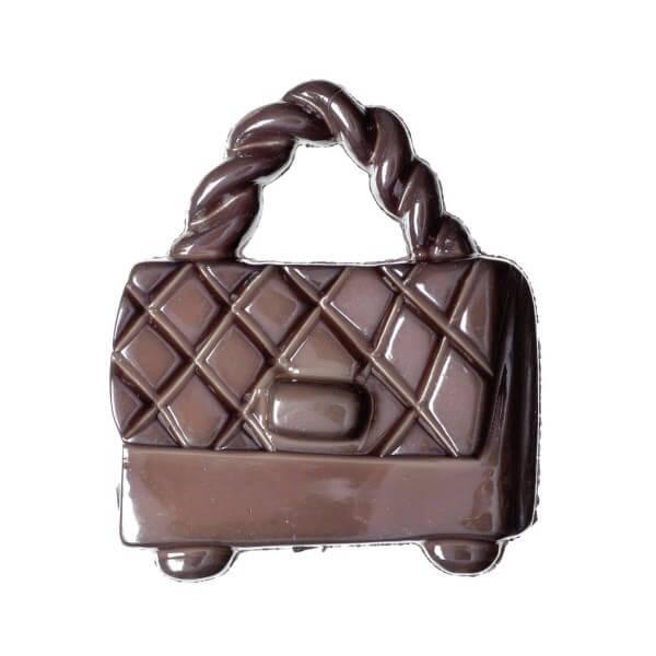Pack of 4 Hemline Glossy Handbags Shank Back Buttons 21mm