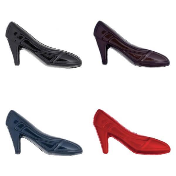 Pack of 5 Hemline Glossy High Heels Stilettos Shank Back Buttons 32mm