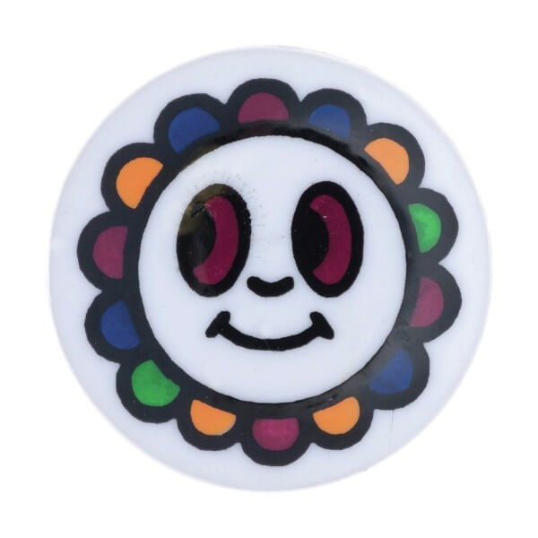 Pack of 5 Hemline Happy Multi Colour Flower Face Shank Back Buttons 12.5mm