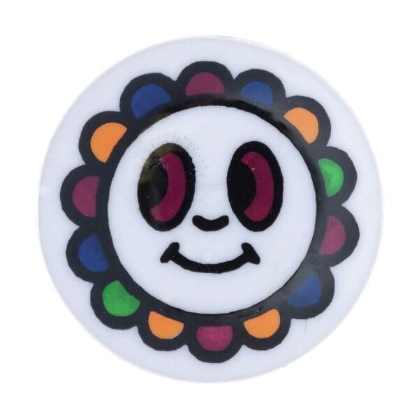 Pack of 4 Hemline Happy Multi Colour Flower Face Shank Back Buttons 15mm