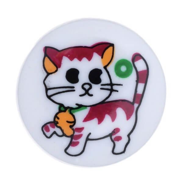 Pack of 5 Hemline Colourful Cartoon Cat Shank Back Buttons 12.5mm