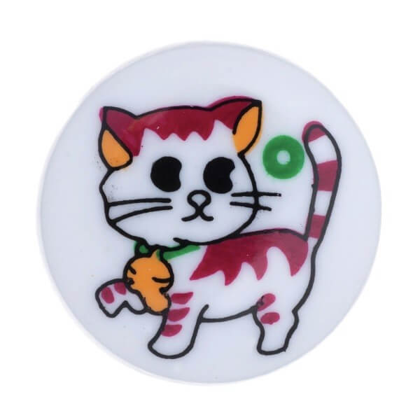 Pack of 4 Hemline Colourful Cartoon Cat Shank Back Buttons 15mm