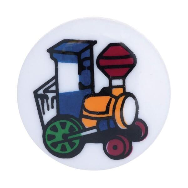 Pack of 5 Hemline Cartoon Toy Train Shank Back Buttons 12.5mm