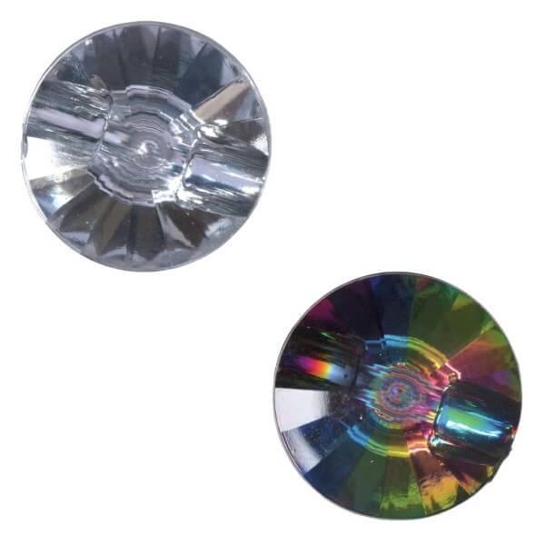 Pack of 3 Hemline Diamond Prism Style Shank Back Buttons 12.5mm