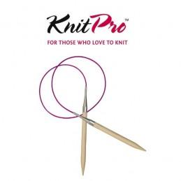 KnitPro Basix Birch Circular Fixed Knitting Pins Needles 40cm
