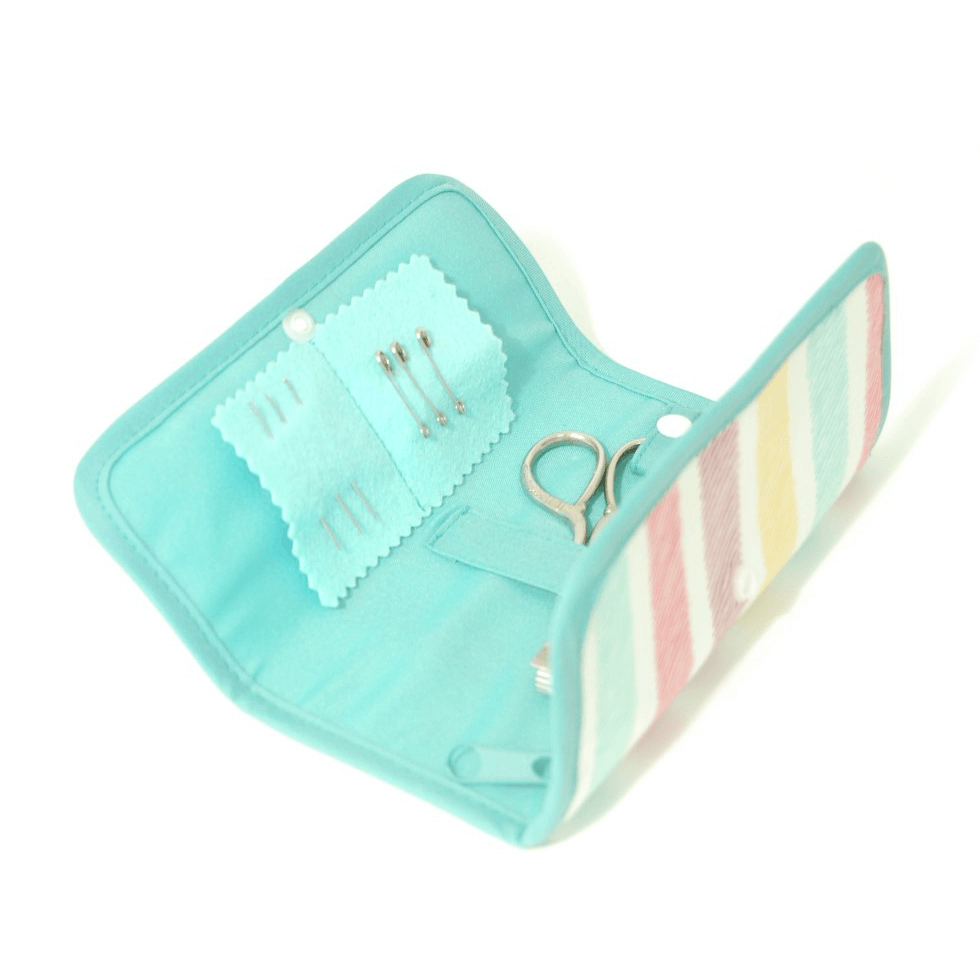 Sketch Stripe Collection Soft Pastel Sewing Kit Roll Case Essential Accessories