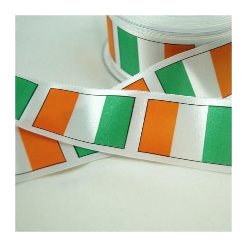 irish tricolour ribbon 25mm 35mm 70mm