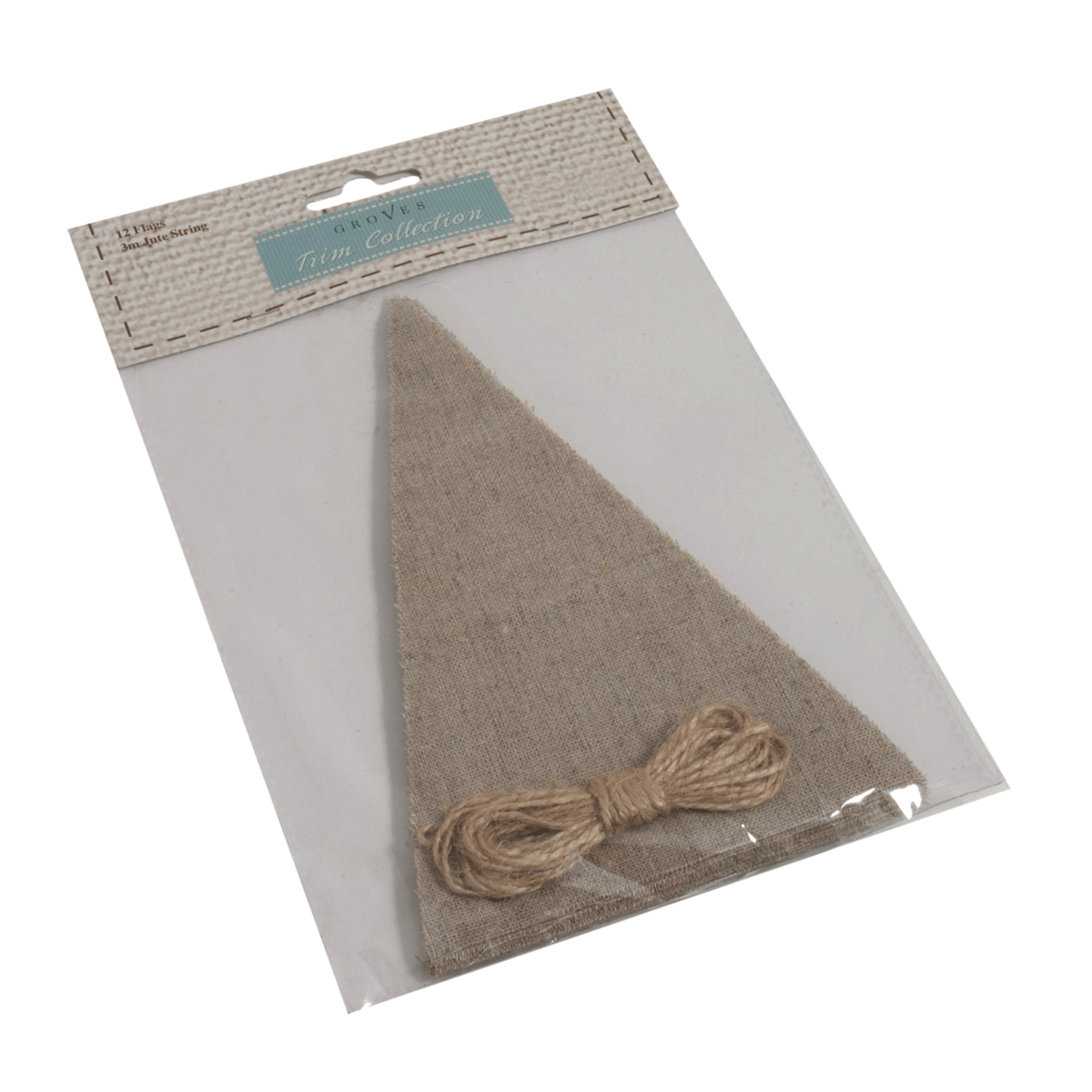 Make Your Own Bunting Flag Kit Natural Celebration Decoration