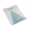 Make Your Own Bunting Flag Kit Blue with White Spot Celebration Decoration