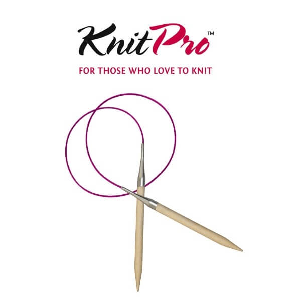 KnitPro Basix Birch Circular Fixed Knitting Pins Needles 40cm
