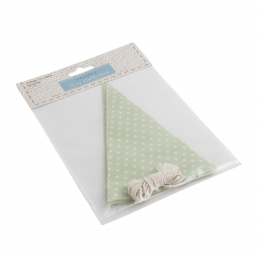 Make Your Own Bunting Flag Kit Green with White Spot Celebration Decoration