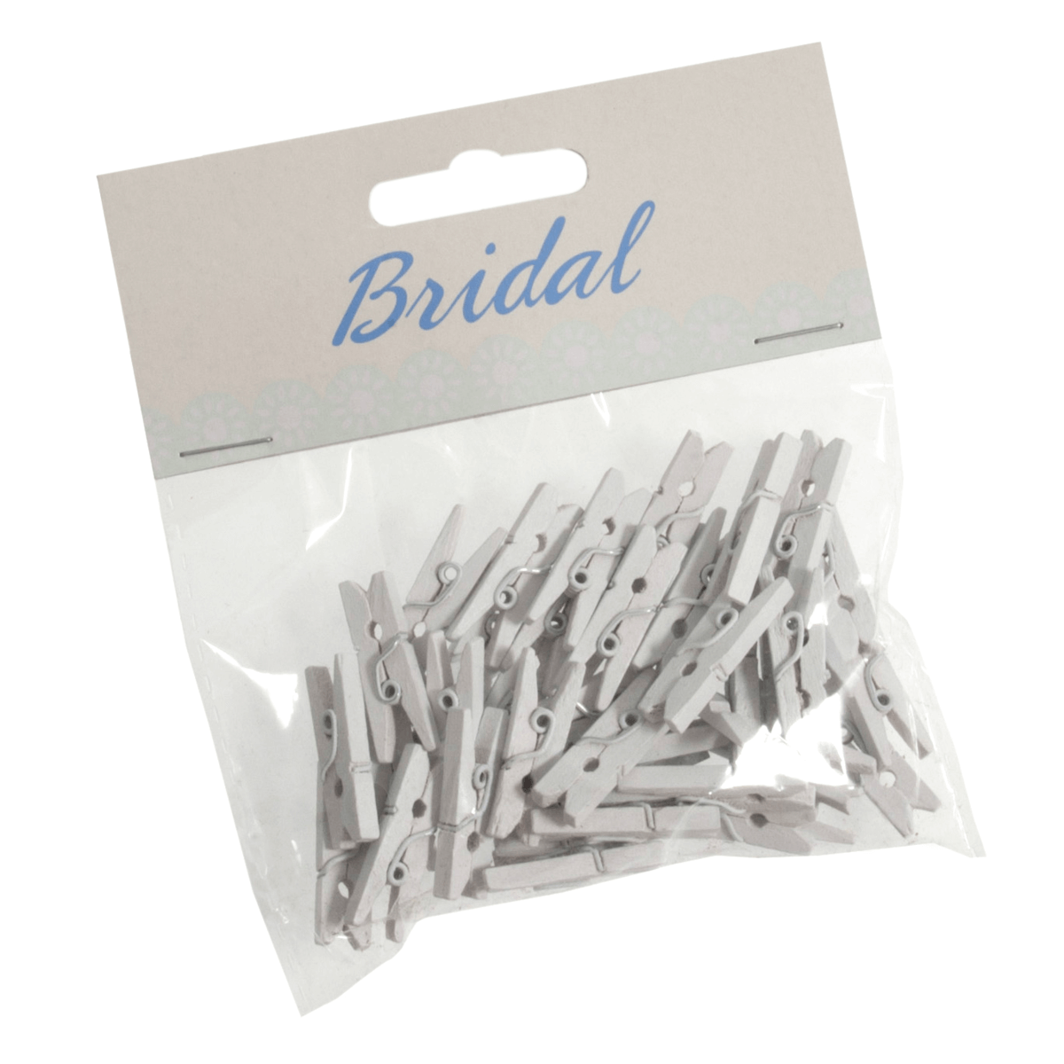 X 45 Bridal White Wood Craft Pegs Embellishments Wedding Venue Decoration