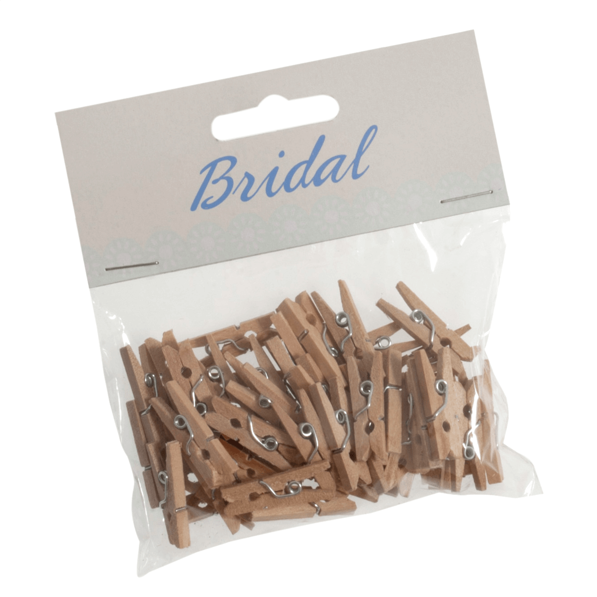 45 x Bridal Natural Wood 25mm Craft Pegs Embellishments Wedding