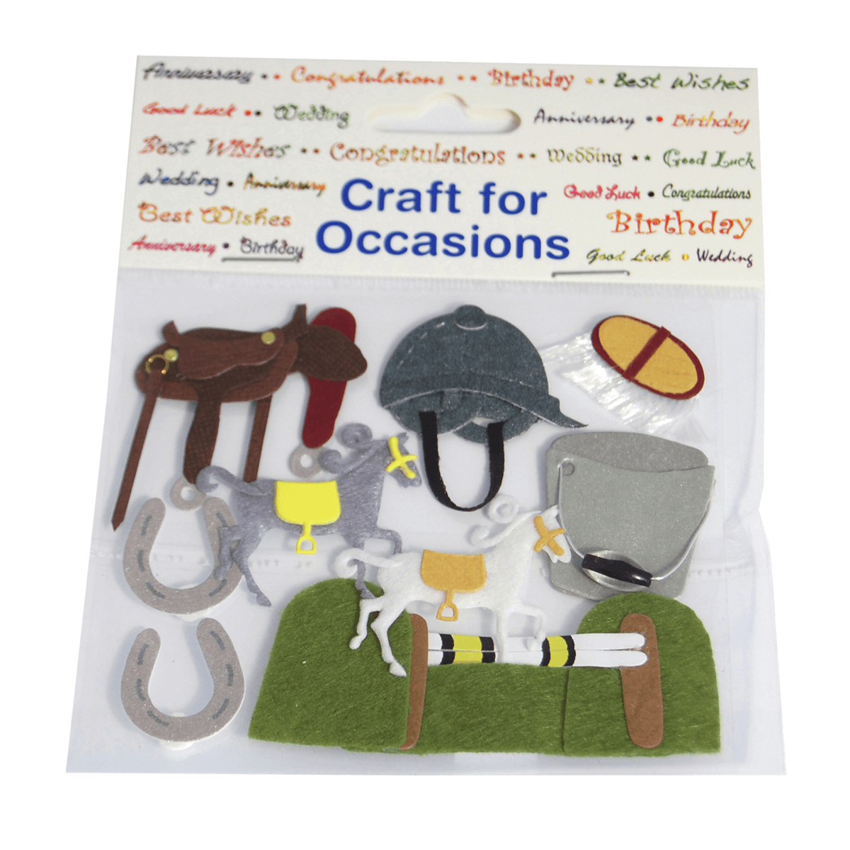 9 x Horse Riding Set Craft Embellishments Cardmaking