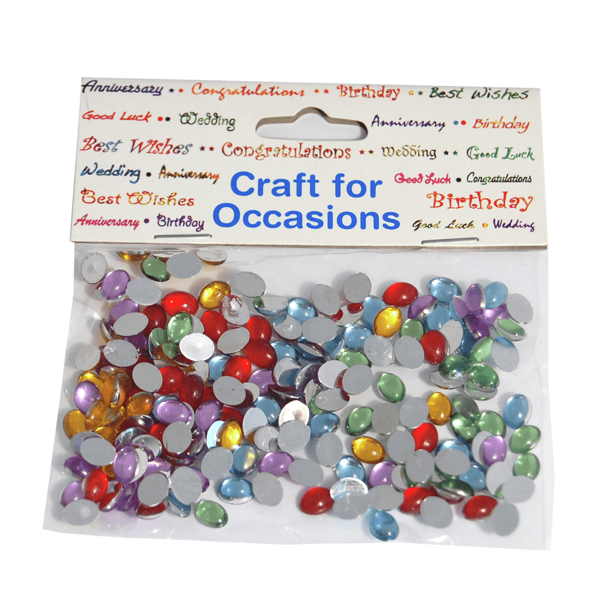 180 x Crystal Domes Oval Mini Assorted Craft Embellishments Cardmaking
