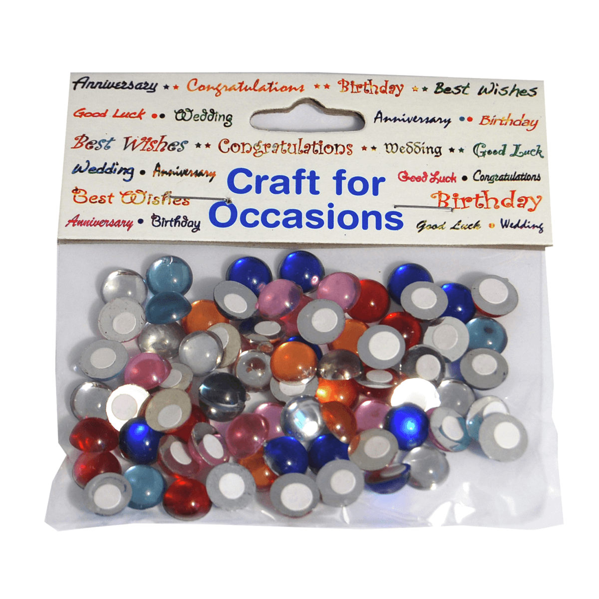 72 x Crystal Domes Oval Round Assorted Craft Embellishments Cardmaking
