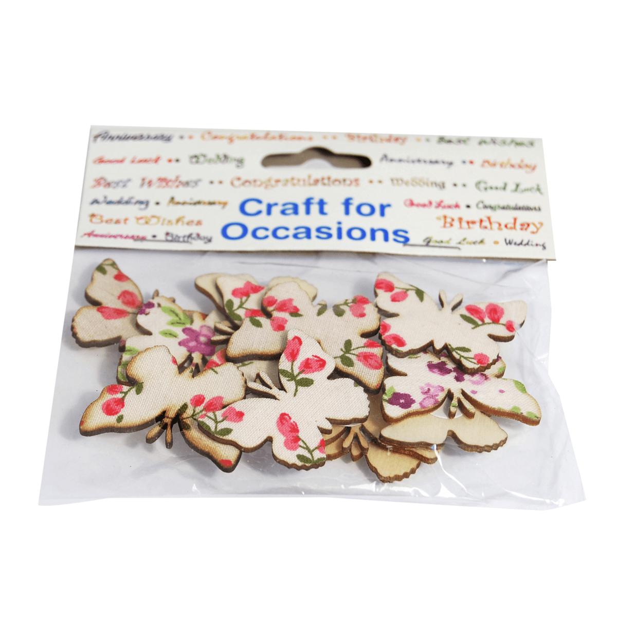 12 x Floral Butterflies Nature Embellishments Craft Summer