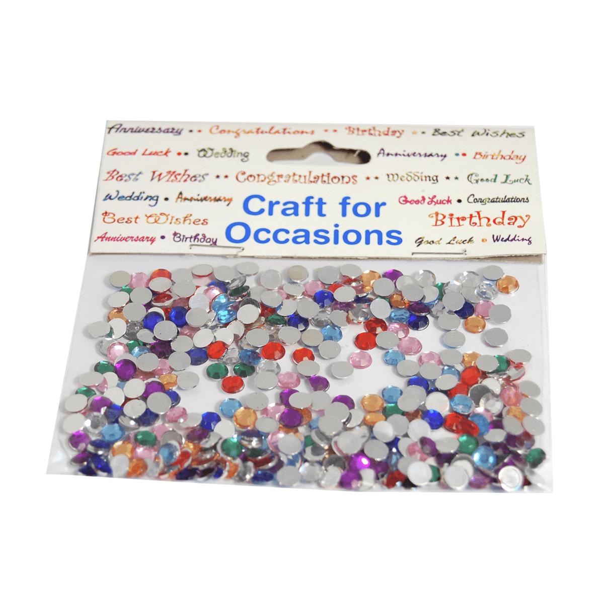 Mirror Circles 4mm Assorted Embellishment Craft Cardmaking